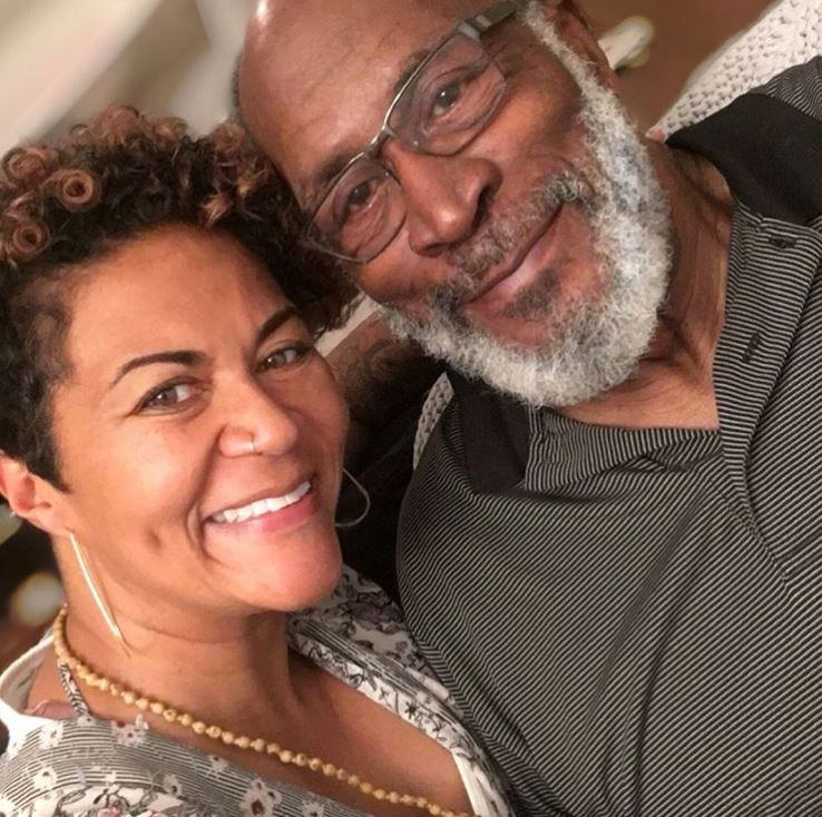 Shannon Amos with her father
