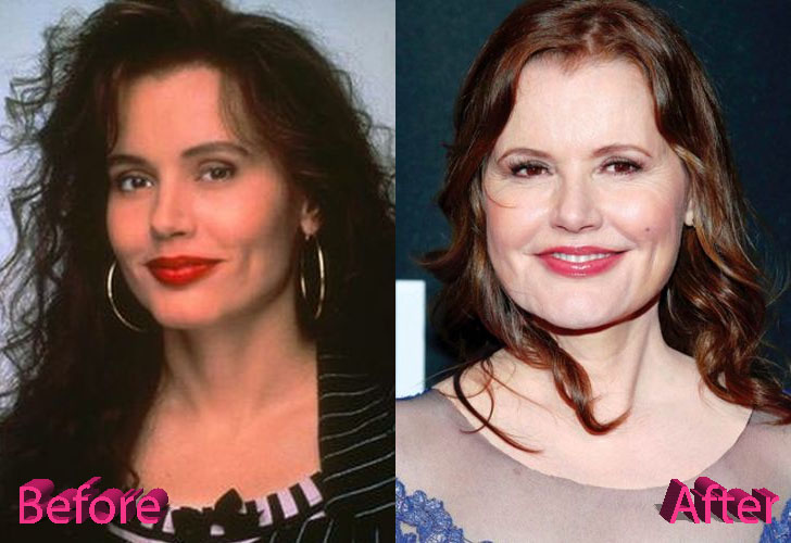 Geena Davis Before and After Picture