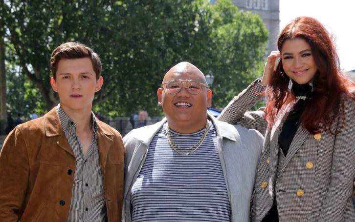 Jacob with Tom Holland, and Zendaya
