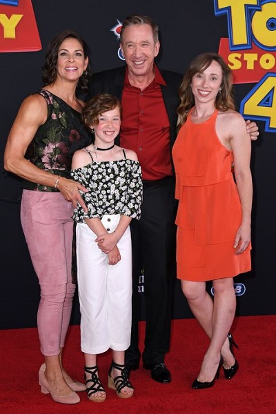 Katherine Allen family, stepmother, stepsister